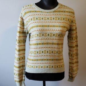 J.Crew Pattern  Lambswool Sweater size M